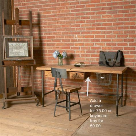 wood and pipe desk modern reclaimed wood desk with pipe legs by