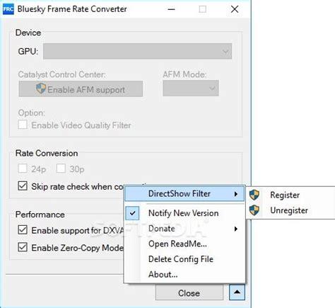 frame rate bluesky frame rate converter