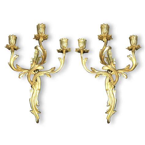 applique bronzo coppia di appliques in bronzo dorato funzionanti in buono