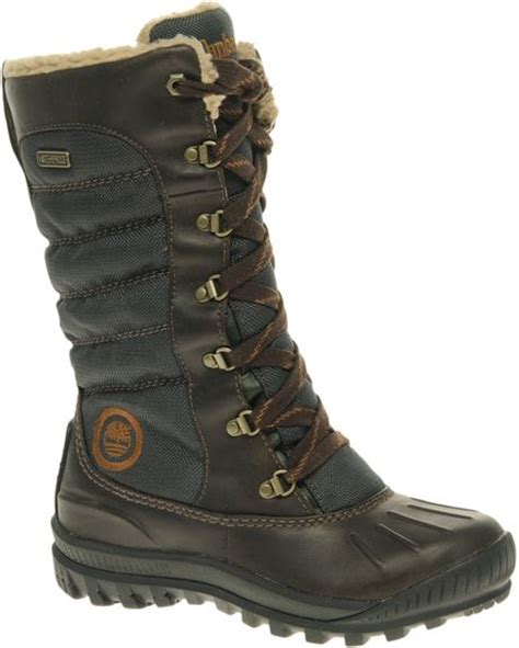 timberland mount lace duck flat boots in brown