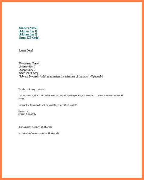Example Resume Profile Statement by 9 Company Authorization Letter Sample Company Letterhead