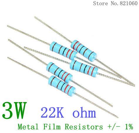 22 k eol resistor 3w metal resistors 22k ohm 1 100pcs in resistors from electronic components
