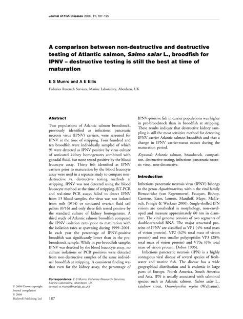 (PDF) A comparison between non-destructive and destructive