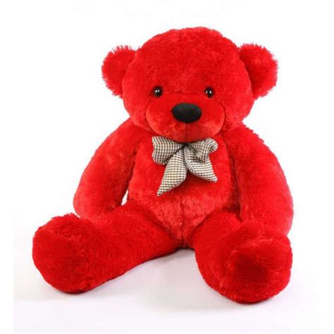 buy red 3 5 feet bow teddy bear online at lowest price in