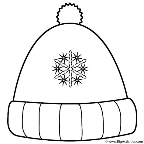 winter hat  snowflakes coloring page christmas