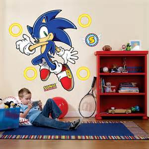 jumbo wall stickers sonic the hedgehog giant wall decals buycostumes com