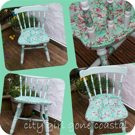 decoupage tutorial furniture how to decoupage a chair using paper napkins for the