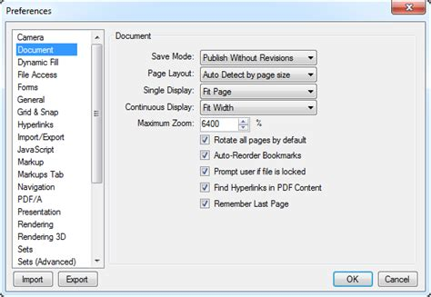 compress pdf in bluebeam document preferences