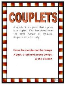 simple quatrain pattern couplets two lined poems with a fun and simple rhyming