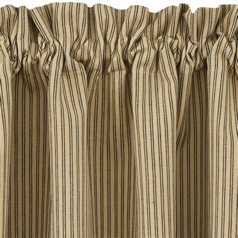 "Black and Tan Ticking Stripe Curtain Tiers Primitive Star 24"" and 36""   eBay"