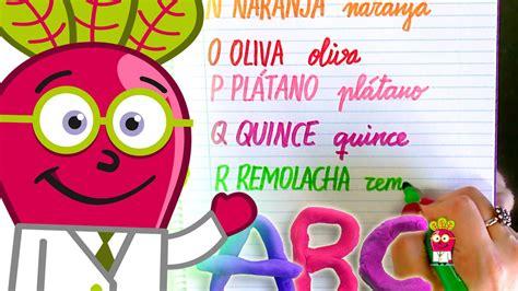 imagenes infantiles actuales caligrafia abecedario de frutas y verduras en espa 241 ol para