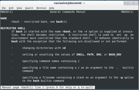 rbash a restricted bash shell explained with practical
