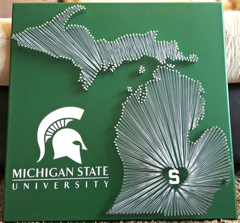 State String - 20 quot x 20 quot michigan state spartans string niki