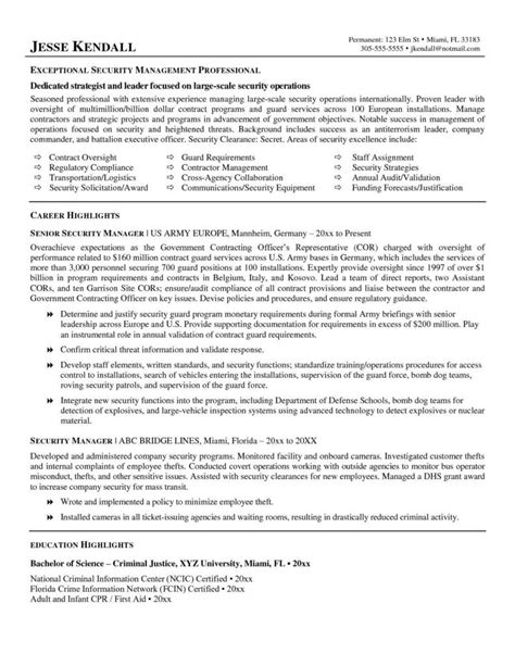 Chief Information Security Officer Sle Resume by Sle Resume For Security Officers Guest Services Associate Sle Resume