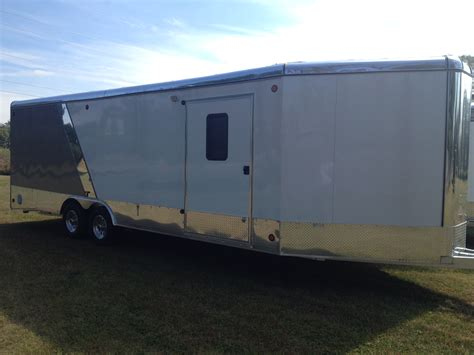 series trailer aluminum car hauler vech series enclosed rnr trailers