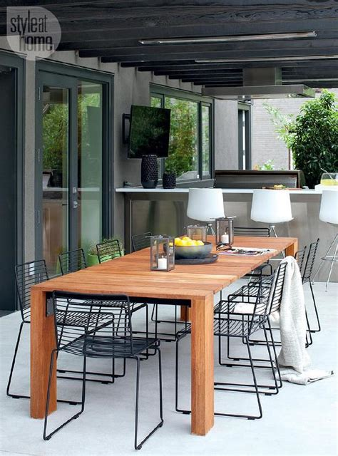 outdoor dining table chairs contemporary patio with black pergola contemporary