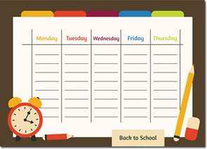Schedule Template For Word by 10 Students Weekly Itinerary And Schedule Templates