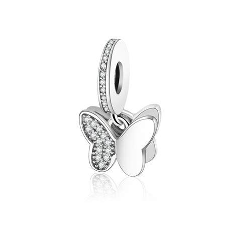 Fluttering Butterflies Pendant Charm P 279 100 925 sterling silver fluttering butterflies pendant charm fit original pandora charms