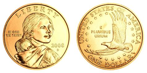 gold dollar 2008 d sacagawea dollars golden dollar value and prices