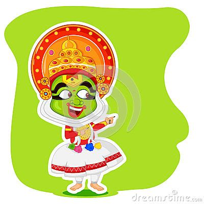 boat raja cartoon kathakali dancer offering shopping sale for onam vector