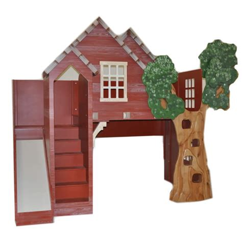 treehouse loft bed rustic treehouse loft bed with slide