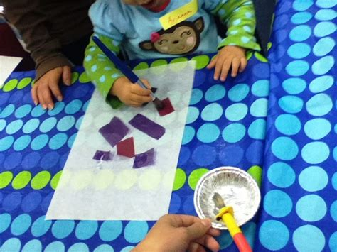 How To Make Paper Look With Vinegar - vinegar and tissue paper lisle library apply pieces