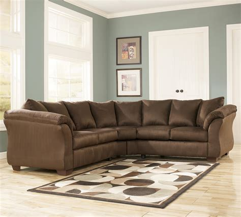 ashley darcy sofa chaise signature design by ashley darcy cafe contemporary
