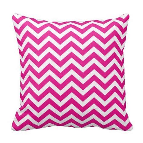 pink and white chevron pattern throw pillows