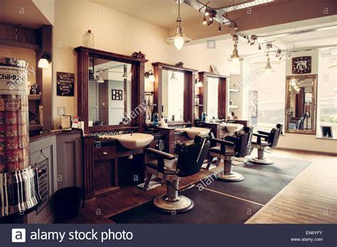 retro interior design s barber shop retro styled interior design stock