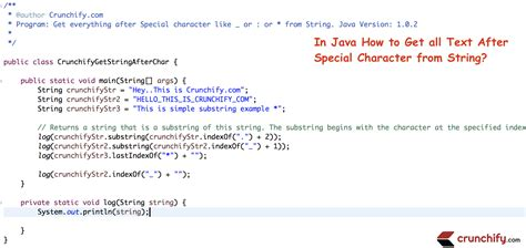 in java how to get all text after special character from