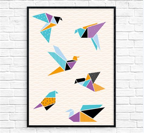 Origami Crane Printable - origami cranes printable wall allfreepapercrafts