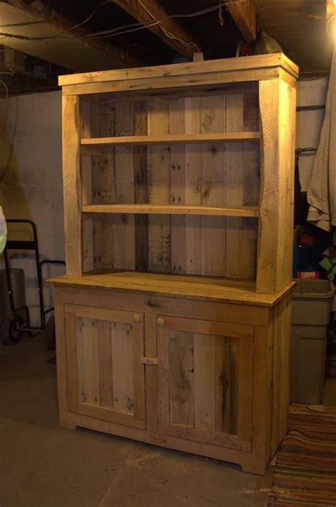 wooden furniture for kitchen pallet wood kitchen hutch 101 pallets