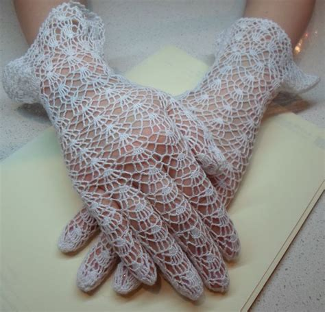 Pinterest Gloves Pattern | vintage pattern crochet lace gloves crochet knit