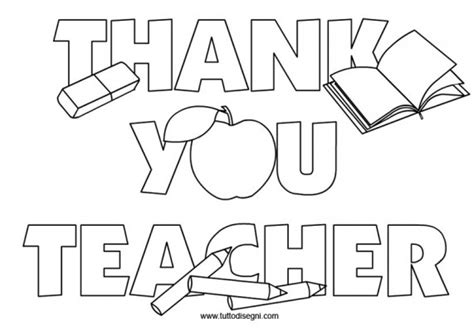 free coloring pages of thank thank you teacher