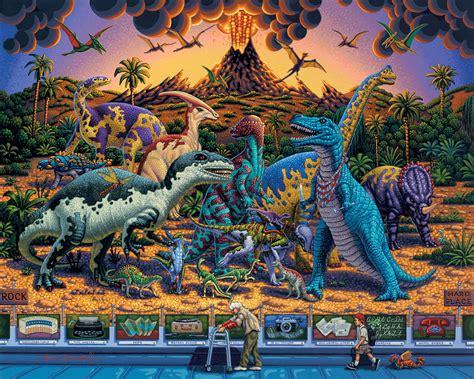 500 Jigsaw Puzzle Dinosaurs dinosaur museum jigsaw puzzle puzzlewarehouse