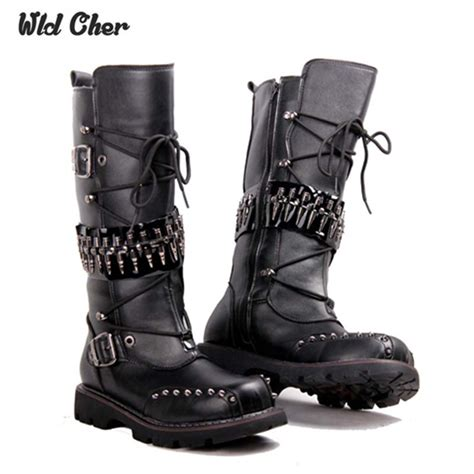 mens high boots leather 2017 knee high boots mens boots