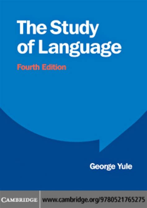 the study of language the study of language 4th edition