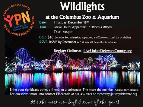 The United Way Of Delaware County Event Details Columbus Zoo Lights Tickets