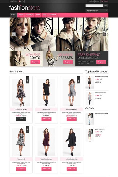 fashion shop template clothe store website templates themes free premium
