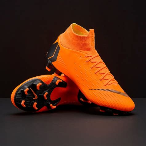 Sepatu Nike Mercurial 2018 sepatu bola nike original mercurial superfly vi pro fg total orange black total orange volt