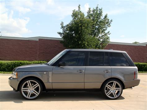 silver range rover range rover supercharged on 23 quot modulare b11 in silver