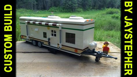 how to build a lego boat and trailer custom build large lego travel trailer youtube