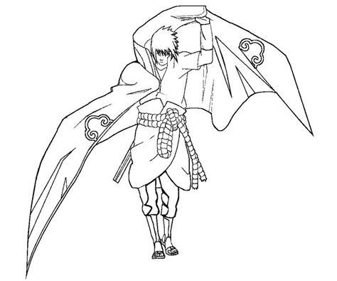 free coloring pages of draw sasuke