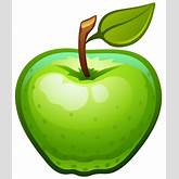 Large Painted Green Apple PNG Clipart