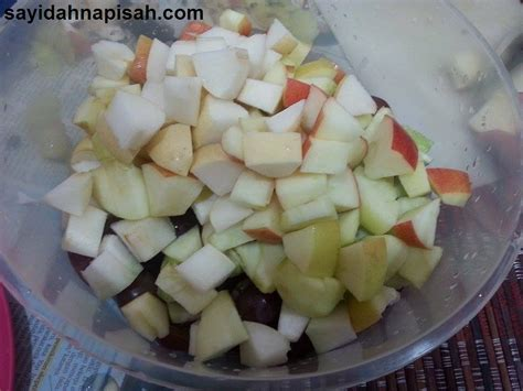 cara membuat salad buah tanpa yogurt resepi salad buah mudah dan sedap sayidahnapisahdotcom