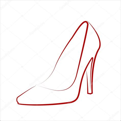 desenho femininos desenho de sapato feminino vetores de stock 169 ngaga35
