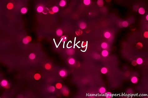 3d wallpaper vicky vicky name logo wallpaper www imgkid com the image kid