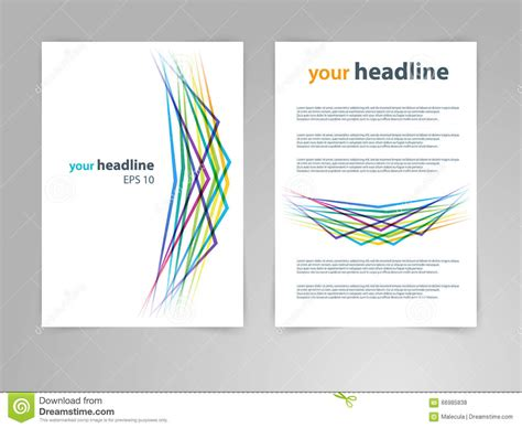 design science journal abstract geometric design vector template layout for