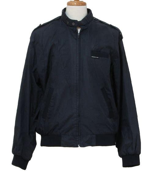 vintage 80s jacket 80s members only mens navy blue