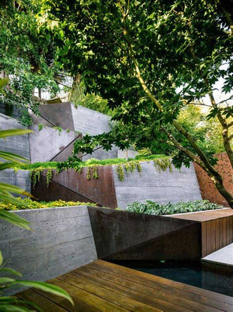 Sloping Backyard Ideas by Sloping Garden Design Ideas Corner